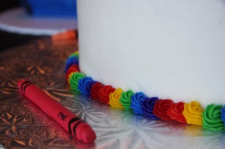 Cake Detail - close up of the crayon