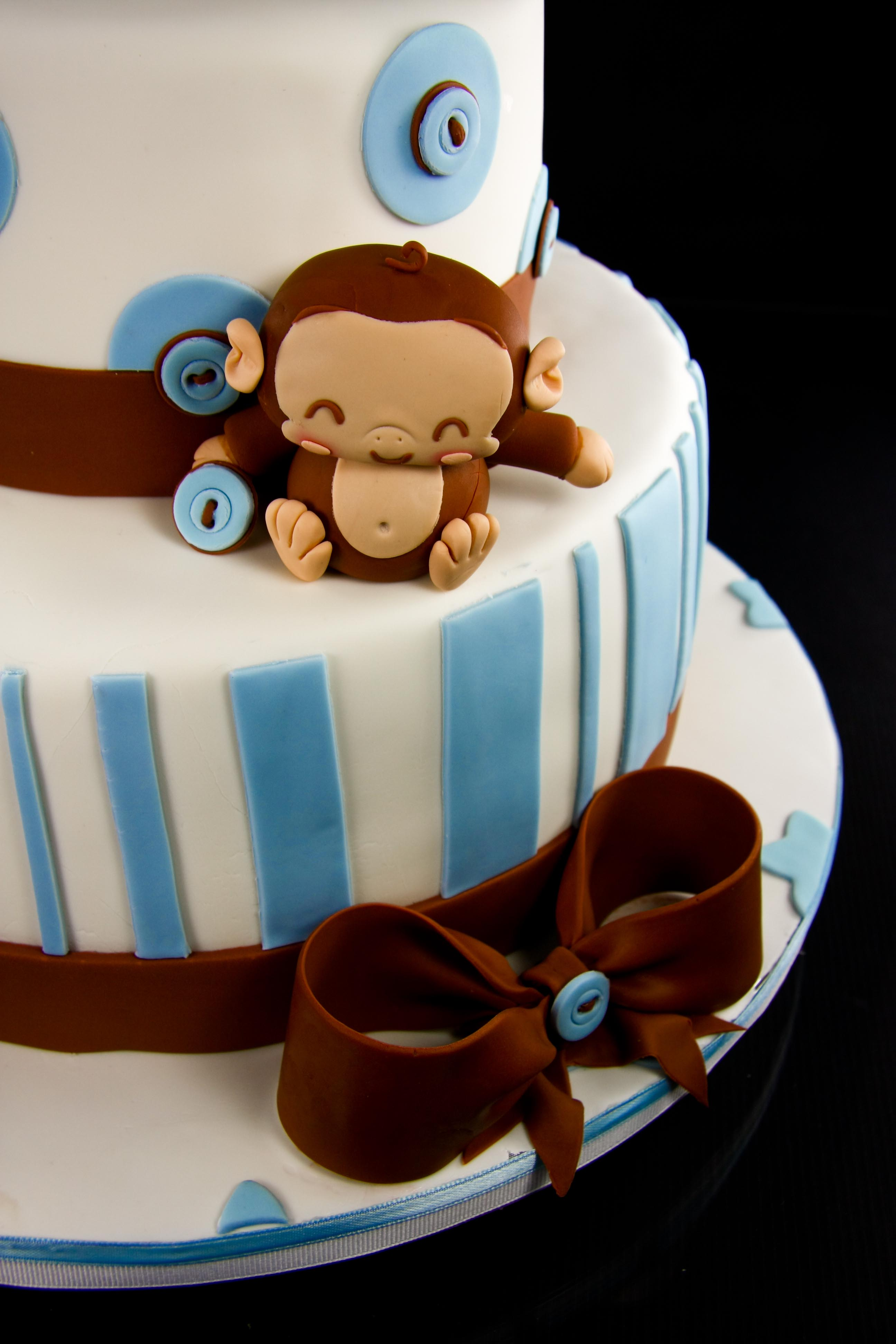 monkey baby shower monkey detail